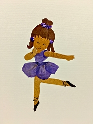 Ballerina in Purple Tutu