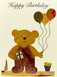 Bear with Balloons and Present