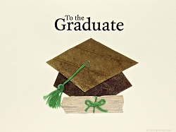 Diploma And Cap With Green Tassel