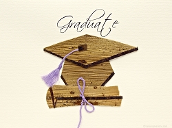 Diploma And Cap With Lilac Tassel
