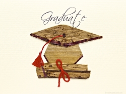 Diploma And Cap With Red Tassel